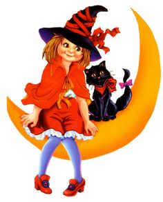 Little witch and her cat