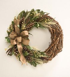 "Harvest Pine Cone Wreath, 22"" dia. 