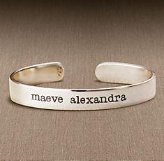 personalized namesake bracelet Restoration Hardware $89