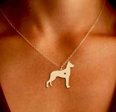 Great Dane Pendant Necklace - Gold or Silver