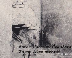 A hole in the wall of the crypt in church of St. Cyril and Methodius, Prague (the date of the appearance of this hole is controversial). Author: Jaroslav Čvančara, source: Akce Atentát