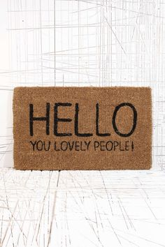 Lovely People Doormat - Urban Outfitters from Urban Outfitters. Shop more products from Urban Outfitters on Wanelo. Urban Outfitters, My Home Design, House Design, Decorative Accessories, Home Accessories, D House, Cozy House, Reno, Home And Deco