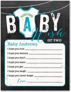 Wee Onesie: Calypso - Baby Shower Games in Calypso Shower Bebe, Baby Shower Fun, Baby Shower Parties, Baby Showers, Baby Tech, Baby Shower Chalkboard, Wishes For Baby, Second Baby, Shower Gifts