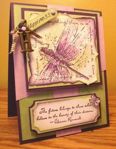 Dragonfly by Cindy Haffner using Stampin Up Measure of Life