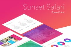 Sunset Safari PowerPoint Template by Jumsoft on Envato Elements