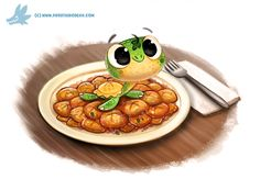 Daily Paint #1203. Torto-lini by Cryptid-Creations.deviantart.com on @DeviantArt