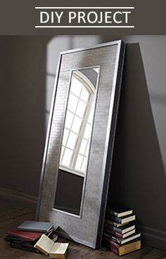 The DIY Leaning Mirror Project only looks pricey. See how you can make it on a budget! Fall Projects, Diy Projects To Try, Leaning Mirror, Dyi Crafts, Home Hardware, Metallic Paint, Mirrors, Reflection, Diy Home Decor