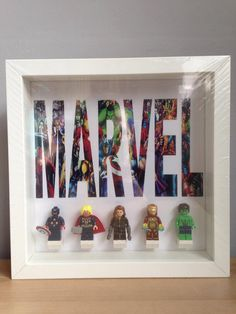 Marvel Minifigure Display Frame by CapsNCuffs on Etsy