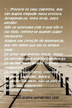 Nao se acostume com o que nao o fiaz feliz... by Fernando Pessoa na teoria eh bonito na pratica errei. januario leal