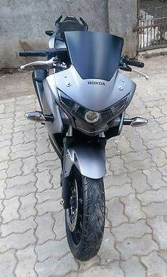 Honda Matte Grey Edition by Star Racing (Gujarat) Yamaha Rx100, Custom Sport Bikes, Red Aesthetic, Cbr, Shades Of Black, Honda, Racing, Motorcycle