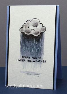 SandyAllnock Rainy Days Get Well Card