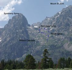 Route options below Hanging Canyon