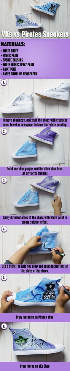 Descendants 2 VKs vs Pirates Sneakers DIY | It's Goin' Down! Create your own Descendants 2-inspired sneakers.