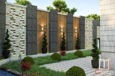 Fence Wall Design, Exterior Wall Design, Garden Wall Designs, Terrace Garden Design, Vertical Garden Design, Balcony Garden, Garden Path, Modern Backyard Design, Backyard Patio Designs