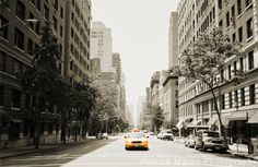 Fifth Avenue Taxicab Street Perspective - Artistic Photography by Patrick Malon
