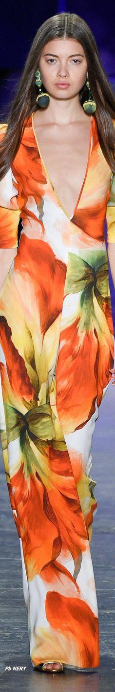 Naeem Khan Spring 2017 Ready-to-Wear ⚜ Fashion 2017, Runway Fashion, Fashion Show, Womens Fashion, Fashion Design, Fashion Ideas, Floral Fashion, Colorful Fashion, Glamour