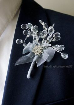 52 Ideas Wedding Winter Diy Grooms For 2019 Groomsmen Boutonniere, Corsage And Boutonniere, Wedding Boutonniere, Winter Wedding Hair, Winter Wonderland Wedding, Winter Bride, Hair Wedding, Bridesmaid Flowers, Wedding Bouquets