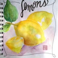 part of the fruits and veggies series in the art journalbook valerieweller.blogspot.com
