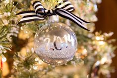 Personalized DIY Ornament Tutorial using scrapbook letters #diywithstyle