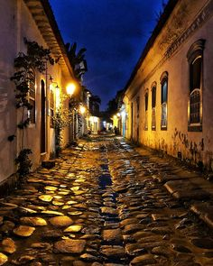 Why they aren't throwing parties in the streets of Paraty, Brazil Brazil Beaches, Brazil Travel, Alien Worlds, Travel Brochure, Beautiful Streets, Old Street, South America Travel, White Sand Beach, Central America