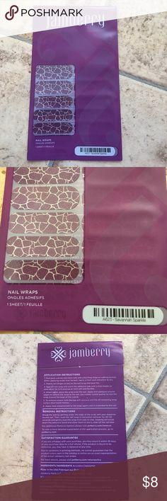 """NWT Jamberry nail wraps """"Savannah Sparkle"""" Brand new in sealed package Jamberry nail wraps. """"Savannah Sparkle"""" **Firm unless bundled** Jamberry Other"""