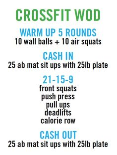 crossfit workout (WOD). For time-18:43. More amazing and interesting stuff about crossfit at http://experience-crossfit.com/crossfit-workout/