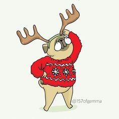 Using every last second to impress Santa. *this drawing is available in the store, link in bio ☝️ ....................................................... Aprovechando hasta el último segundo para impresionar a Papá Noel. *este dibujo también está disponible en la tienda, link en la bio ☝️