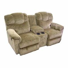 Casual Brown Reclining Loveseat $900