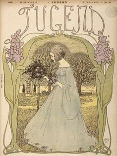 Cover illustration by Heinrich Vogeler for 'Jugend' magazine 1899