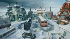 Nuketown is a multiplayer map that was added to Call of Duty: Black Ops 4 for free on November 13th, 2018 on PlayStation 4. It is a remake of the map of the same name from Call of Duty: Black Ops. Being a remake of Nuketown from Black Ops, the map's layout is nearly identical, although this iteration of Nuketown is now set at a Russian nuclear missile testing site during the Cold War. The map is now covered in snow, and has Russian architect-designed buildings. The RC-XD passage is…