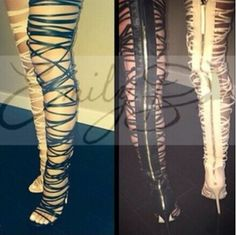 (84.00$)  Know more - http://aibwo.worlditems.win/all/product.php?id=32706319651 - Real Photo 2017 Newest Open toe Narrow Band Strappy Over the Knee Boots Cut-outs Gladiator boot Woman High Heel Thigh High boots