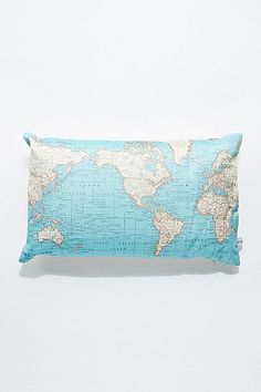 Vintage Map Cushion - Urban Outfitters