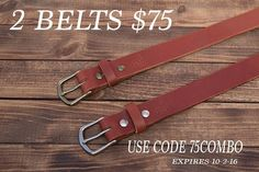 2 belts $75 with code 75combo.