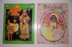 Whitman Paper Dolls Rosebud Sunshine Fun Family