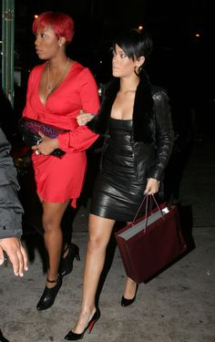 Rihanna wearing Christian Louboutin Decollete Heels  Out for Her Birthday in New York April 08 2008