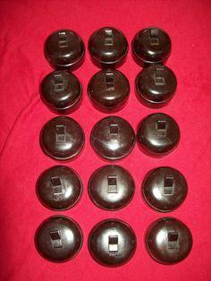 garby interrupteur porcelaine noire rotatif en applique oreillette va et vient appliqu s. Black Bedroom Furniture Sets. Home Design Ideas