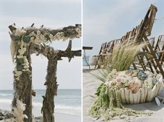 love this  arch and decorations for a beach wedding