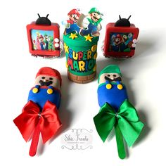 Mario Bros, Mario Brothers, Ice Pops, Chocolate Gifts, Oreos, Hearts, Christmas Ornaments, Holiday Decor, Nice