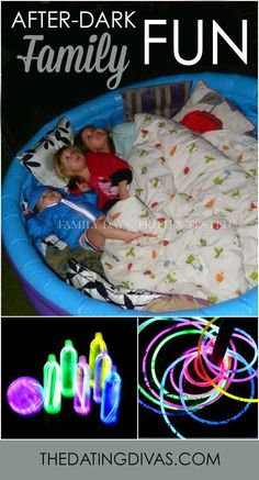 When the lights go out, these family fun ideas for after dark fun come out to play! Sponsored by HORMEL®️ Pepperoni #PEPItUp #ad
