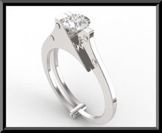 Diamond handcuff ring - *Hahaha this is pretty awesome!!! Go here: http://vidarjewelry.com/shop/handcuff-engagement-ring/