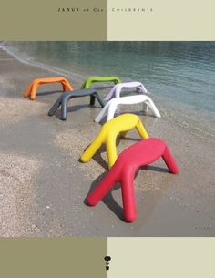 Children's Benches by Janus et Die #Bench #KIds #Janus_et_Cie