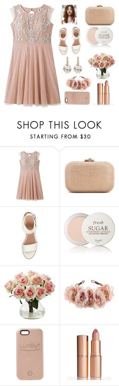 """flower"" by interchannel-reprogram ❤ liked on Polyvore featuring beauty, Judith Leiber, BEA, Fresh, Nearly Natural, Rock 'N Rose, LuMee, Charlotte Tilbury and vintage"