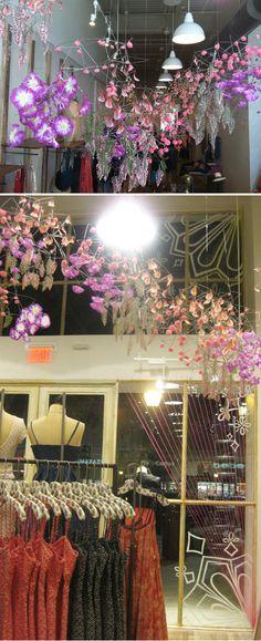 Free People store display, Austin