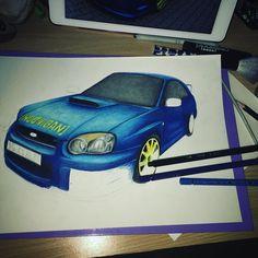 Subaru Impreza wrx sti 2004 noch einiges zu tun #Ginasart #carart #cardrawing #subaruimpreza #subaru #art #arts #artwork #artworks #artoftheday #draw #drawing #drawings #dailysketch #dailyart #pencil #pencilart #pencildraw #pencildrawing #colouredpencildrawing #colouredpencil #kohinoor #polychromos #Polycolor #sketch #illustration by prinzessin.ginasart