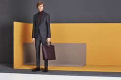 Sharp tailoring from the BOSS Menswear Fall/Winter 2016 collection