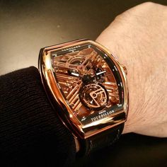 And we are off! The first watch to catch our eye in Geneva - Franck Muller's Vanguard Skeleton Tourbillon. #horology #instawatch #timepiece #tourbillon #luxury #watchporn #watches #facesoffranck #franckmullersg by crownwatchmagazine
