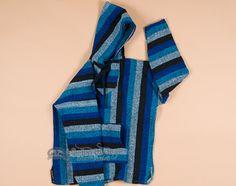 Soft Woven Baja Shirt Hoodie -Blue LARGE (b22)