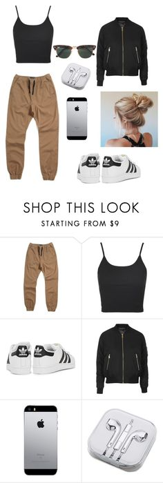"""how to wear adidas"" by karlamichell on Polyvore featuring moda, Zanerobe, Topshop, adidas Originals, PhunkeeTree y Ray-Ban"