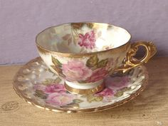 Antique Japanese teacup and saucer Royal Sealy by ShoponSherman