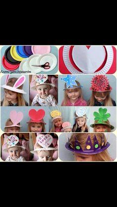 Sjove hatte lavet ud af engangs tallerkner